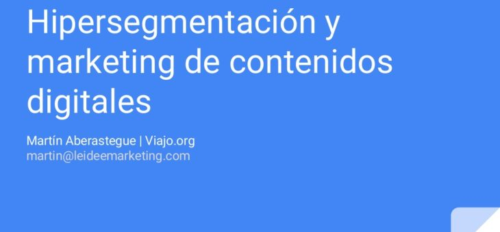 InnovaTur BA: Hipersegmentación y marketing de contenidos digitales